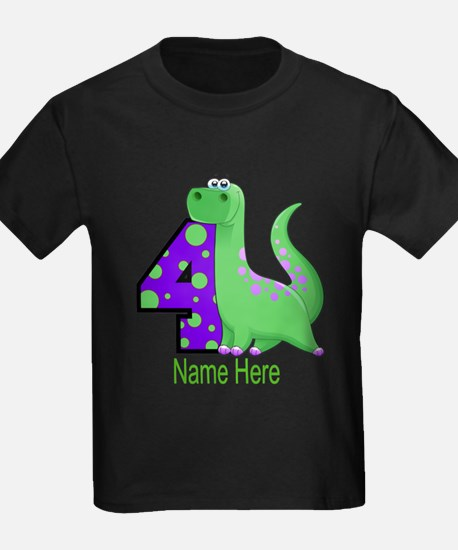 Dinosaur 4th Birthday Custom T