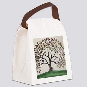Culpeper Tree Cats Canvas Lunch Bag