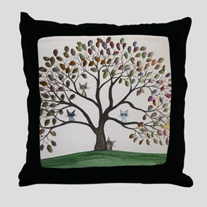 Culpeper Tree Cats Throw Pillow