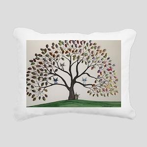 Culpeper Tree Cats Rectangular Canvas Pillow