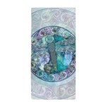 Cool Celtic Dragonfly Beach Towel