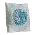 Cool Celtic Dragonfly Burlap Throw Pillow