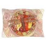Warm Celtic Dragonfly Pillow Case