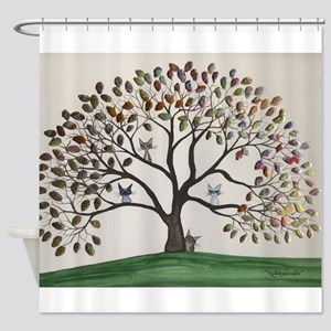 Culpeper Tree Cats Shower Curtain