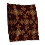 Celtic Knotwork Enamel Burlap Throw Pillow