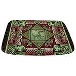 Celtic Dragon Labyrinth Bathmat
