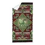 Celtic Dragon Labyrinth Beach Towel