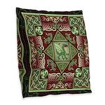 Celtic Dragon Labyrinth Burlap Throw Pillow