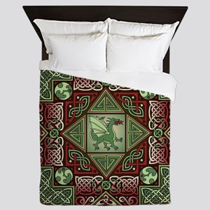 Celtic Dragon Labyrinth Queen Duvet