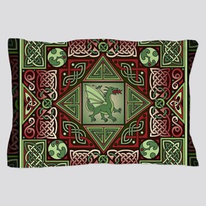 Celtic Dragon Labyrinth Pillow Case