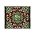Celtic Dragon Labyrinth Throw Blanket