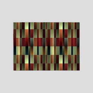 Brandy Wine Pattern 5'x7'Area Rug