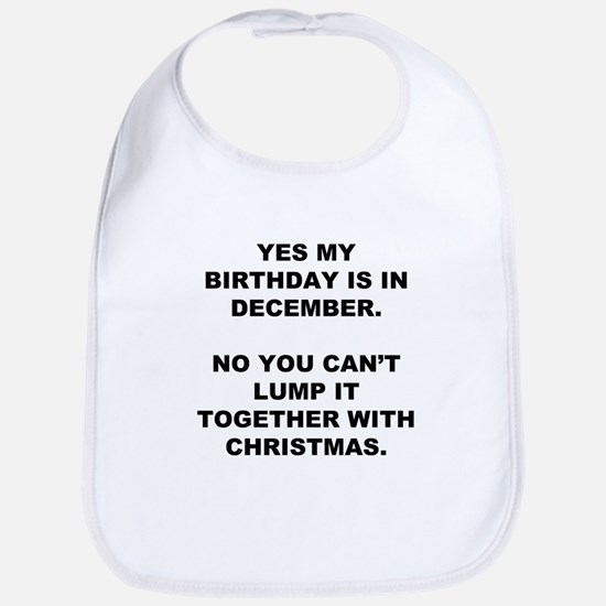Christmas Birthday Bib