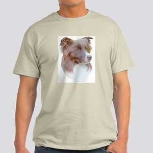 Red Border Collie Ash Grey T-Shirt