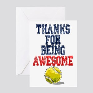 Tennis greeting cards cafepress thanks awesome tennis card greeting cards m4hsunfo Choice Image