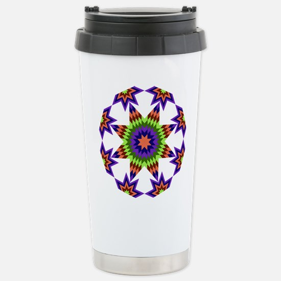 Star Burst Stainless Steel Travel Mug