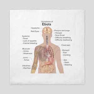 Symptoms of Ebola Queen Duvet