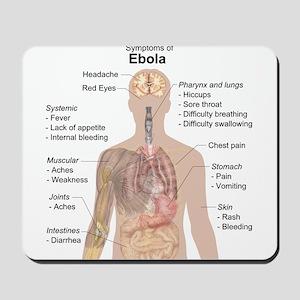 Symptoms of Ebola Mousepad