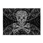 Celtic Skull and Crossbones 5'x7'Area Rug