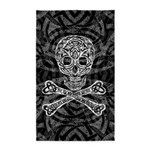 Celtic Skull and Crossbones 3'x5' Area Rug