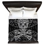 Celtic Skull and Crossbones King Duvet