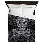 Celtic Skull and Crossbones Queen Duvet