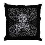 Celtic Skull and Crossbones Throw Pillow