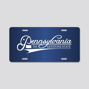Pennsylvania State of Mine Aluminum License Plate