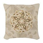 Celtic Star Woven Throw Pillow