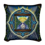 Celtic Hourglass Woven Throw Pillow