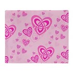 Celtic Pink Hearts Throw Blanket