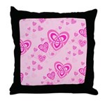 Celtic Pink Hearts Throw Pillow