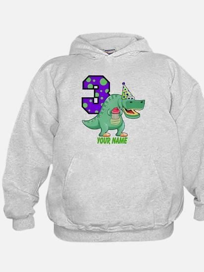 T-Rex 3rd Birthday Custom Hoodie