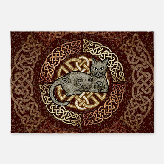 Celtic Cat 5'x7'Area Rug