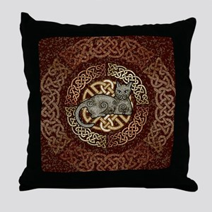 Celtic Cat Throw Pillow