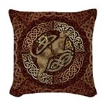 Celtic Dog Woven Throw Pillow