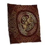Celtic Dog Burlap Throw Pillow