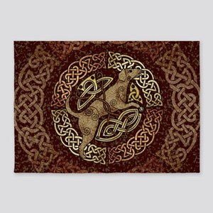Celtic Dog 5'x7'Area Rug