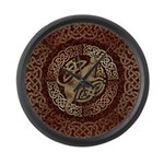 Celtic Dog Large Wall Clock