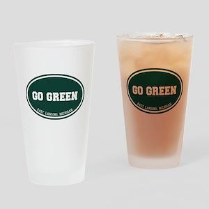 Go GREEN Drinking Glass