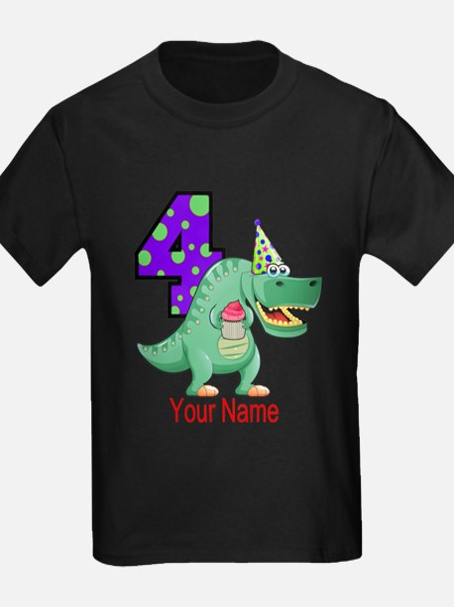 T-Rex 4th Birthday Custom T