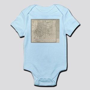 Vintage Map of Memphis Tennessee (1911) Body Suit