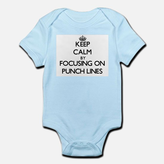 Keep Calm by focusing on Punch Lines Body Suit