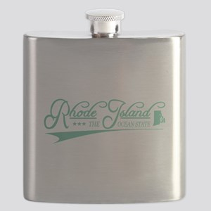 Rhode Island State of Mine Flask
