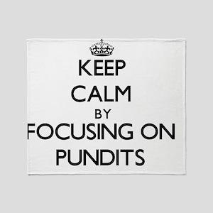 Keep Calm by focusing on Pundits Throw Blanket