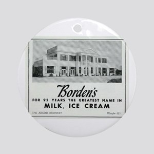 Borden's Dairy Round Ornament