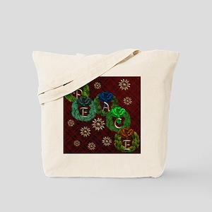 Harvest Moons Peace Wreaths Tote Bag