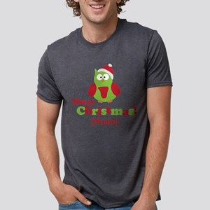 Personalized Merry Christmas Owl T-Shirt