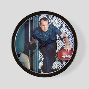 Richard Nixon Bowling Wall Clock