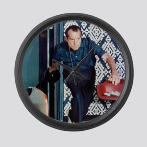 Richard Nixon Bowling Large Wall Clock